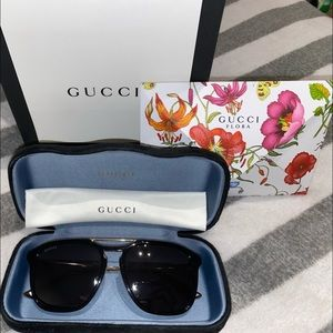 Men's Gucci Square & Rectangle Sunglasses